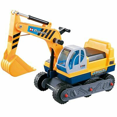 £19.99 • Buy Rexco Childrens Kids Ride On Yellow Excavator Digger Push Along Toy Car Tractor