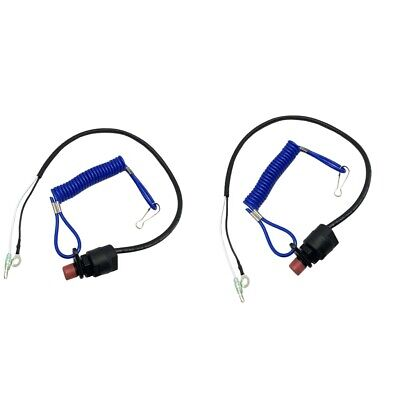 AU17.78 • Buy 2x Boat Outboard Motor Kill Stop Switch & Safety Tether Lanyard For Yamaha