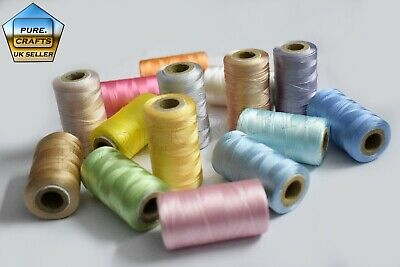 15 Spools Of Machine Silk Embroidery Threads For BROTHER ,JANOME | UK BEST • 7.99£