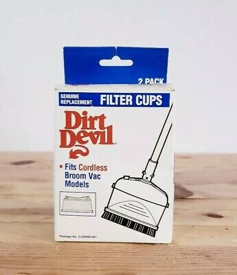 $6.99 • Buy DIRT DEVIL Genuine Replacement Filter Cups 2 PACK Fits Cordless Broom Vacs