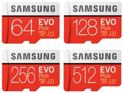 $21.85 • Buy Samsung 64GB 128GB 512GB Evo Plus MicroSDHC C10 100MB/s Micro SD Memory Card Lot