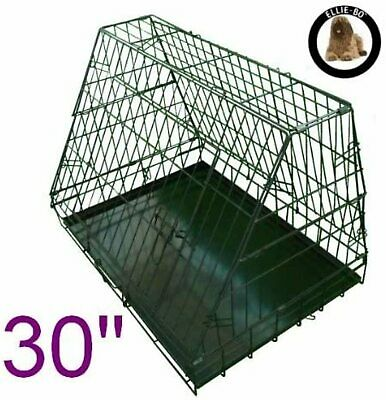 £38.40 • Buy SLOPED TRANSPORT CRATE CAR DOG CAGE TRAVEL CARRIER PET BOOT PUPPY 30 Inch New