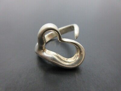 Auth Tiffany & Co. Open Heart Ring EU49 US5 JP9 Sterling Silver 925 Good 86145 • 22.16£