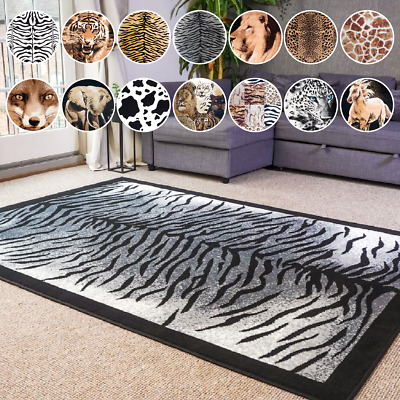 £29.95 • Buy Bravich Modern Shaggy Area Rug Soft Carpet Mat With Animal Print Design For Home