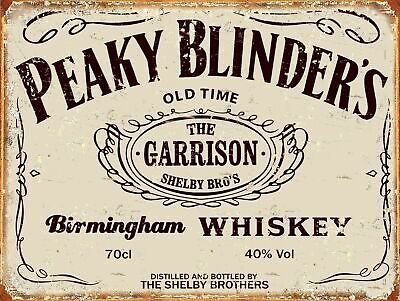 Peaky Blinders Whiskey Retro Metal Sign Plaque Novelty Gift Man Cave Pub • 6.50£