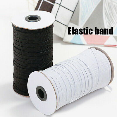 $ CDN11.96 • Buy  White/Black Elastic Band 3/6mm Width Sewing Trim String DIY Braided 100 Yards