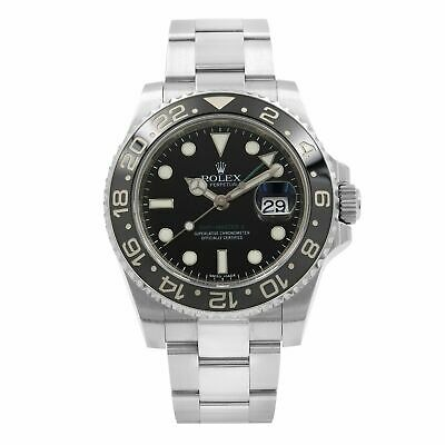 $ CDN14697.96 • Buy Rolex GMT Master II Black Dial Oyster Band Steel Automatic Mens Watch 116710LN
