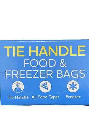 FOOD & FREEZER BAGS Medium 2 X 120 Pcs TIE HANDLE-Uk Seller New • 3.95£