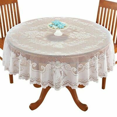 AU23.67 • Buy Vintage Lace Tablecloth Rectangle Round Dining Table Cover Home Desk Decor Party