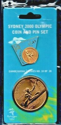SYDNEY 2000 OLYMPIC $5 COIN & PIN SET Canoe/Kayak No 10 Of 28. Sealed Pack • 12.95£