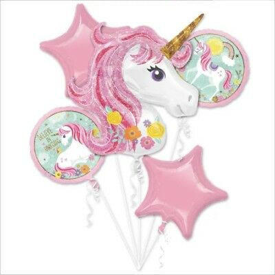 AU10 • Buy Unicorn BALLOON BOUQUET 5pcs Candy Pink Party Supplies & Decoration Easy Set Up