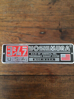 Yoshimura Aluminium Heatproof Exhaust Sticker/Decal  • 4.49£
