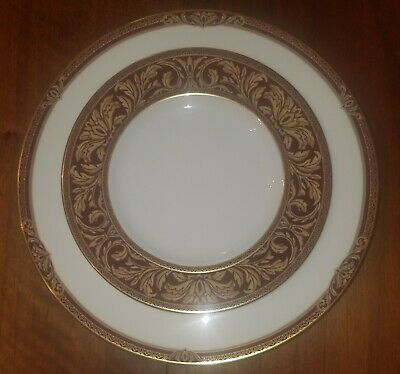 Royal Doulton Tennyson Pattern Dinner & Salad Plate Set Replacement Discontinued • 26.26£