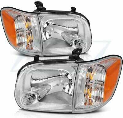 $143.73 • Buy For 05-06 Toyota Tundra 05-07 Sequoia Front Lamp Headlights Assembly Chrome Pair
