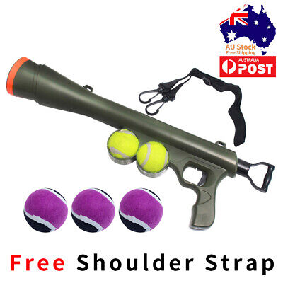 AU24.50 • Buy Pet Dog Tennis Ball Gun Launcher Thrower Outdoor Play Fetch Interactive Dog Toy