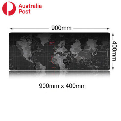AU12.95 • Buy 900x400 Extra Large Gaming Mouse Pad Mouse Mat Gamer Keyboard Mousepad World Map