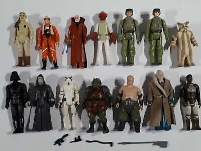 AU51 • Buy Star Wars 1977-1983 Vintage Lot Inc 3 First 12 Figures With Some Weapons