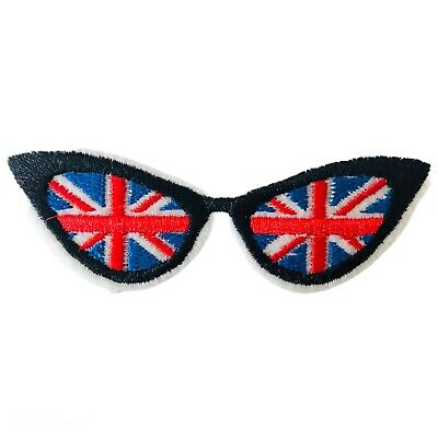 Cool Britainia Union Jack Flag Glasses Sunglasses Embroidered Iron On Patch • 1.85£