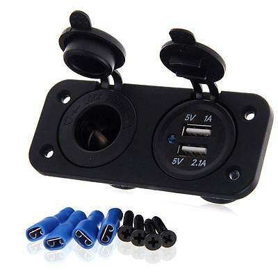 New Car Cigar Charger Lighter Socket Adapter Plug Dual Dual USB Port Universal • 6.59£
