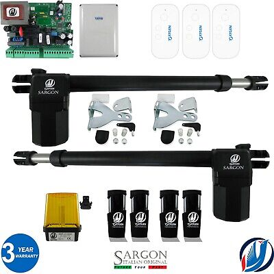 £279.99 • Buy Oxygen Gate Automation Electric Swing Opener Complete Kit 2 Motors 3 Remotes