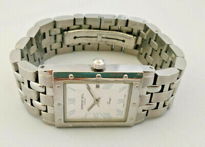 £299.99 • Buy Mens Raymond Weil Tango Chunky Large Stainless Steel White Dial Watch 5380 Boxed