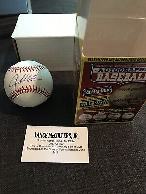 $ CDN66.05 • Buy Lance McCullers Signed Autograph OMLB Official Major League Baseball TriStar