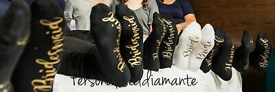 Bride White Black Sock Mother Of The Bride Bridesmaid Gift Girls On Tour  • 5.50£