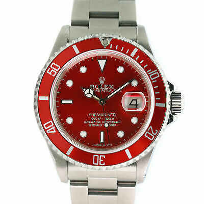$ CDN14112.66 • Buy Rolex Submariner Mens Watch Red Luminous Dial & Insert Stainless Steel 40mm