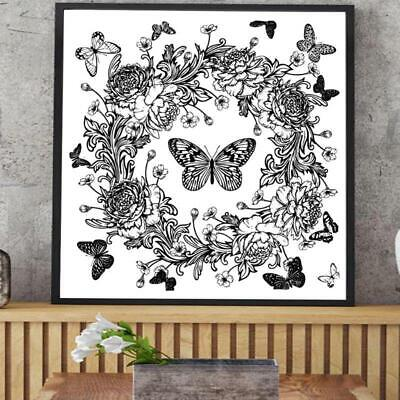 £2.59 • Buy Butterfly Wreath DIY Silicone Clear Stamp Seal Scrapbook Embossing Album