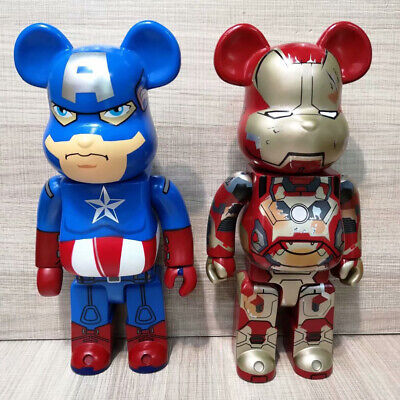$69.99 • Buy Brick Street Art Bear Vinyl Doll Iron Man Action Figure Statue Bear Toys 400%