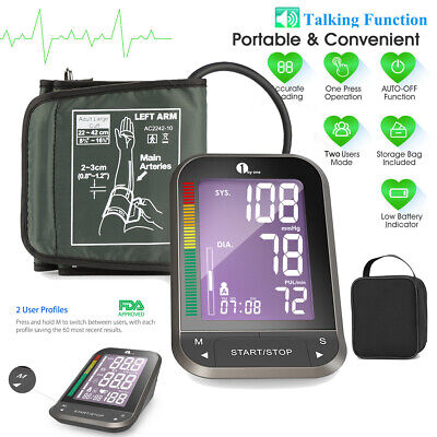 Smart Automatic Blood Pressure Monitor Upper Arm Digital BP Machine Heart Rate • 22.99£
