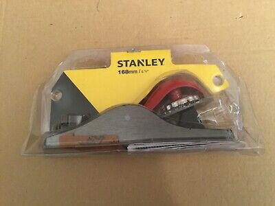 "Stanley 168mm 6-5/8"" Adjustable Wood Block Plane-21* Angle-Ideal Cross Planing • 16£"