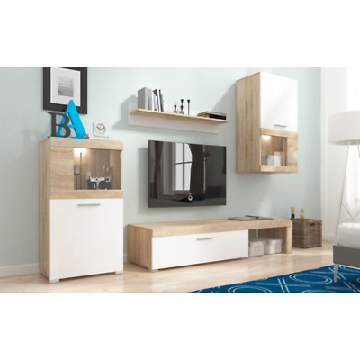 Living Room Furniture Set Tv Unit Display Stand Wall Mounted Cupboard Cabinet • 229£