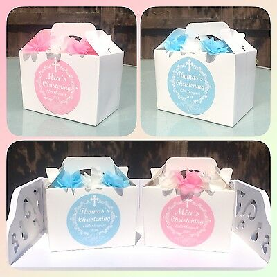 £1.85 • Buy Personalised Boy's Christening, Baptism Party Box, Favour, Treat Gift, Bag X1