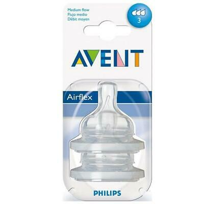 AU19.60 • Buy Philips Avent Airflex Classic Teat, 2 Pack - Med Flow Philips Avent Free Shippin