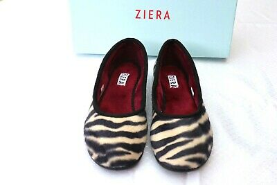 AU25 • Buy Ziera  Joy9  Zebra Furry Flat Shoes, Size 6 XW, New