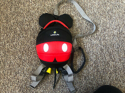 Littlelite Toddler Mickey Mouse Backpack Rein • 15£