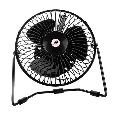 AU31.52 • Buy Mini USB Fan Cooling Airflow With LED Display Clock Time & Temperature Black