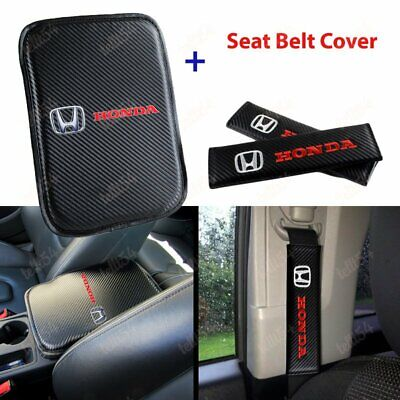 $18.88 • Buy For HONDA Racing New Car Center Console Armrest Cushion Mat Pad Cover Combo Set