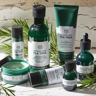 £12.99 • Buy The Body Shop | Tea Tree | Face Body Hand Scrub Solution Lotion Mask | Brand New