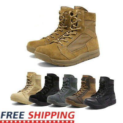 $45.99 • Buy Mens Military Tactical Combat Army Boots Lightweight Hiking Work Boots Shoe Size