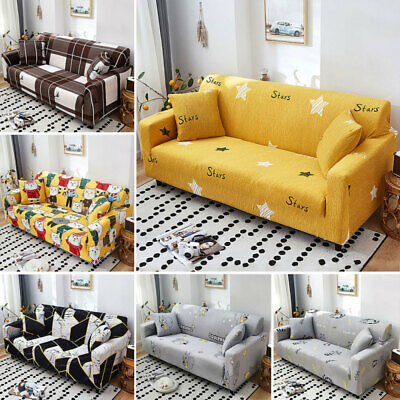AU48.99 • Buy Sofa Covers 1/2/3/4 Seater Stretch Lounge Chair Slipcover Protector Couch Decor