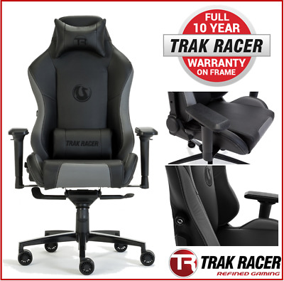 ^Car Racing Office Chair Game Simulator Seat Race Melbourne Grand Grey Cars • 194.92£