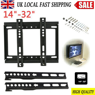 TV Wall Bracket Mount Tilt Swivel 14 17 19 20 26 30 32 Inch Flat LED LCD Monitor • 5.99£