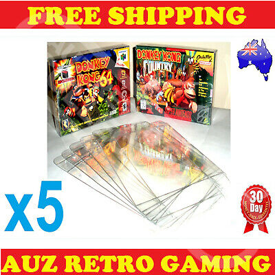 AU11.19 • Buy 5x N64 / SNES Thick GAME BOX PROTECTORS Cases Nintendo 64 BOXED Games