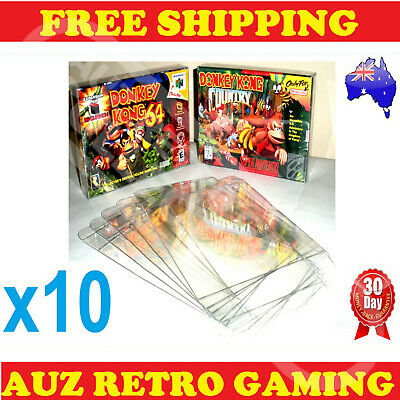 AU18.71 • Buy 10x N64 / SNES Thick GAME BOX PROTECTORS Cases Nintendo 64 BOXED Games