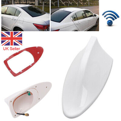 Universal Car Roof Radio AM/FM Signal Shark Fin Style Aerial Antenna White UK 1X • 5.99£