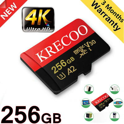 $9.99 • Buy Original Memory Card 256GB Class10 4K High Speed Flash Card Memory Micro TF Card