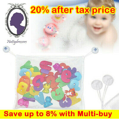 Kids Baby Bathtub Toy Tidy Storage Bag Suction Cup Mesh Bathroom Organiser Net • 2.89£