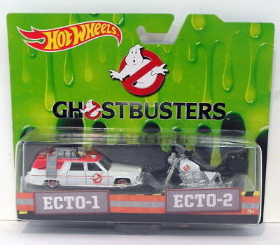 Hot Wheels 1/64 Scale Diecast DRW73 - Ecto-1 & Ecto-2 - Ghostbusters • 26.99£